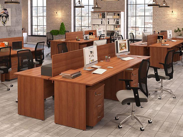 офис в коричневых тонах