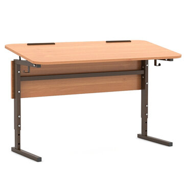 Стол 2-местный регулир. высота и наклон столешницы 0-10° (гр 2-4, 3-5 или 4-6)